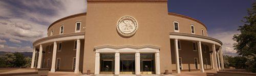 New Mexico capitol building in Santa Fe